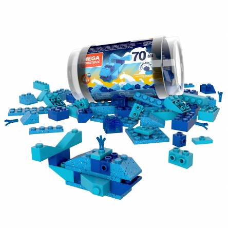 Mega Construx Wonder Builders 70 pcs Building Tube (Blue)