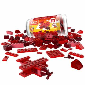 Mega Construx Wonder Builders 70 pcs Building Tube (Red)