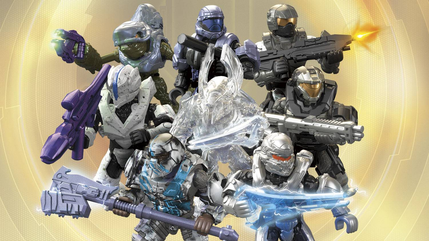 Toys & Hobbies Building Toys MEGA CONSTRUX Halo CNC84 Silver *BANISHED BRUTE* Stormbound Series