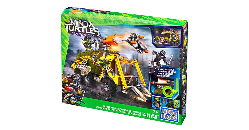 Mega Bloks Teenage Mutant Ninja Turtles BATTLE TRUCK  Light/&Sound   DPF82