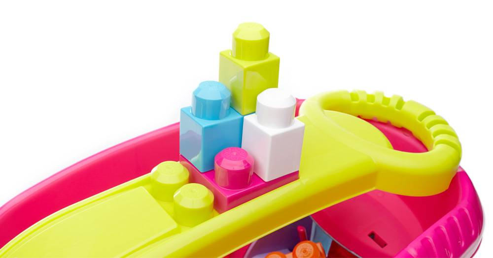 Block Scooping Wagon – Pink
