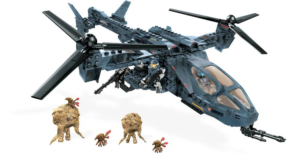 Halo Flood Hunter S Unsc Falcon Mega Bloks