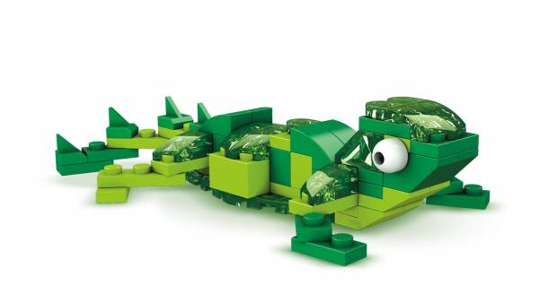 Green Brick Building Set